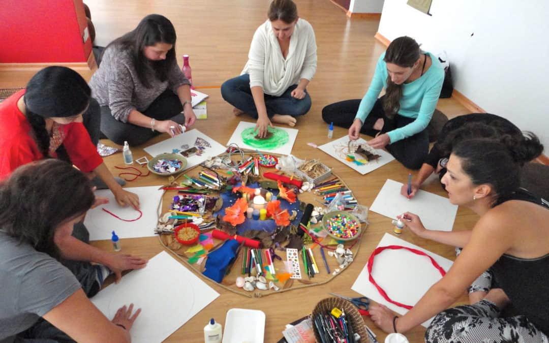 Trabajo terapeutico grupal Mandala Intuitivo